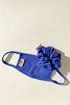 Knit Mask & Knit Scrunchie Set - Blue
