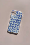 iPhone Case - Blue Daisy Check