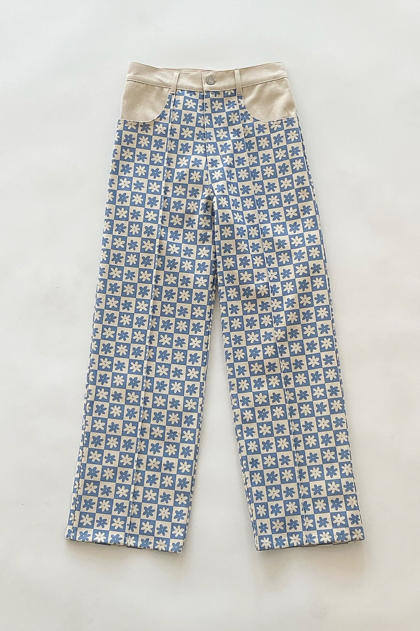 Robyn Jean - Blue Daisy Check/Natural
