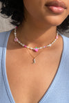 Summer Camp Necklace - Pink