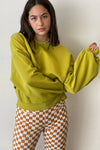 Balloon Sleeve Sweatshirt - Split Pea