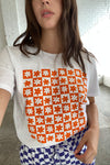 Daisy Check T-Shirt X LSG - Orange Daisy Check