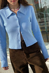 Cassie Top - Cornflower Blue Thermal