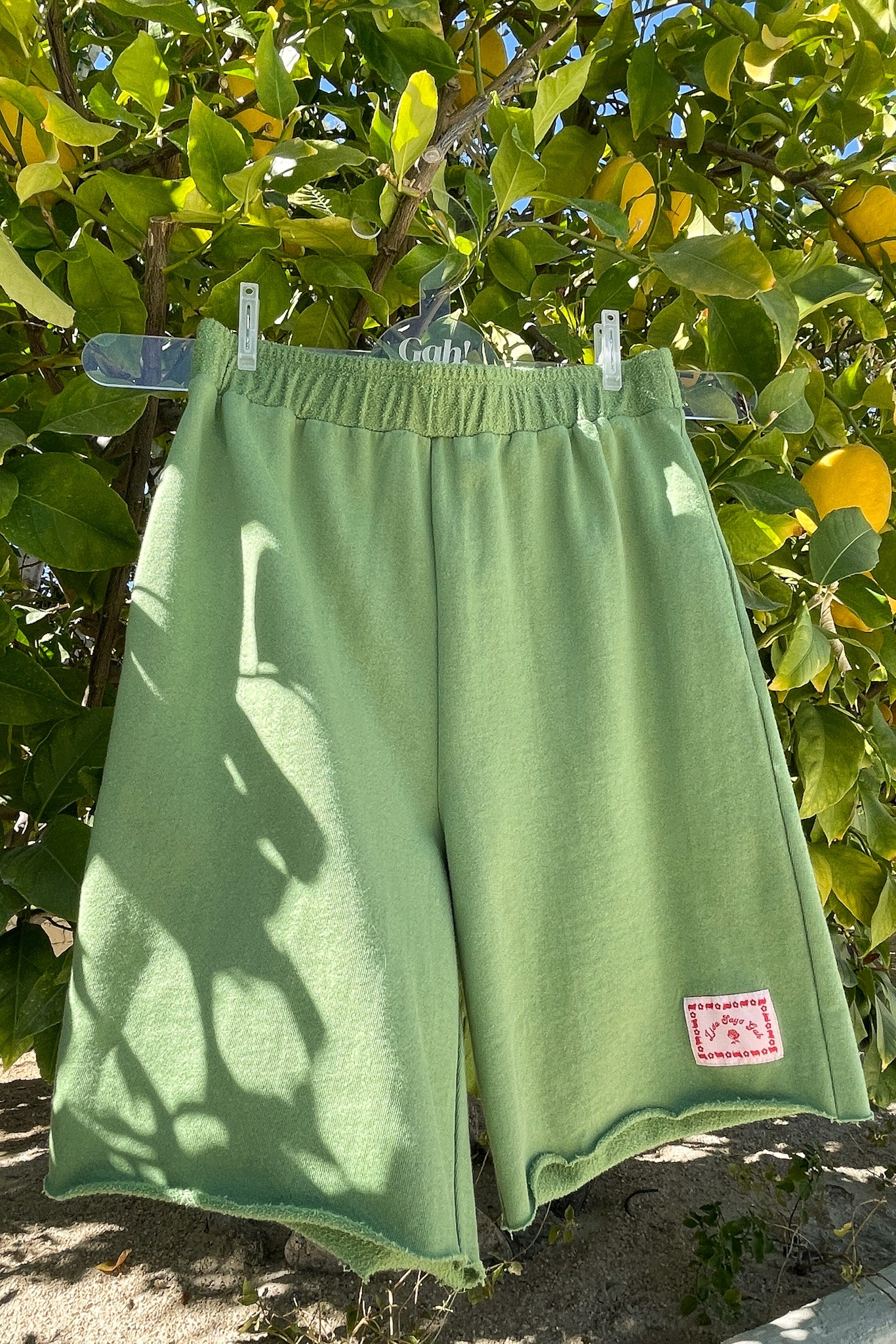 Kelly Organic Terry Shorts - Green