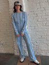 Anna Long Sleeve - Blue Stripe