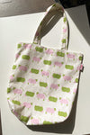 Denim Shopper Tote - Counting Sheep Natural