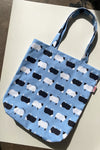 Denim Shopper Tote - Counting Sheep Blue