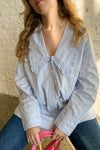 Stripe Cotton Blouse - Heather