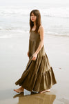 Isabella Maxi Dress - Deep Olive