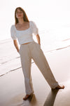 Pleated Trouser - Oatmeal