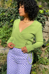 Lucille Wrap Top Long Sleeve - Avocado Thermal
