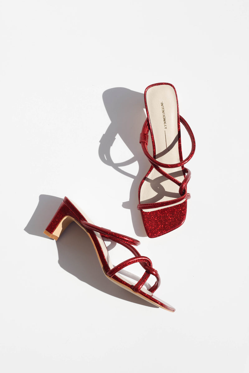 Willow Sandal - Cherry Glitter