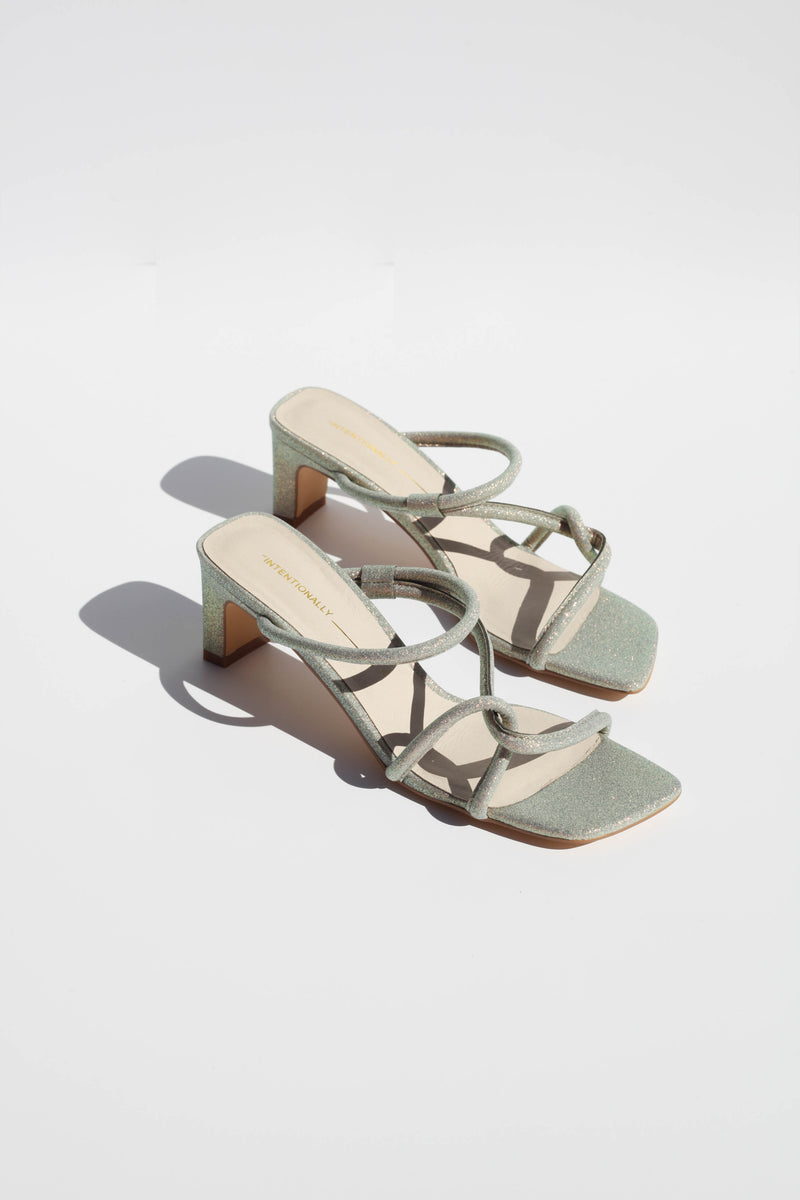 Willow Sandal - Glitter High Shine