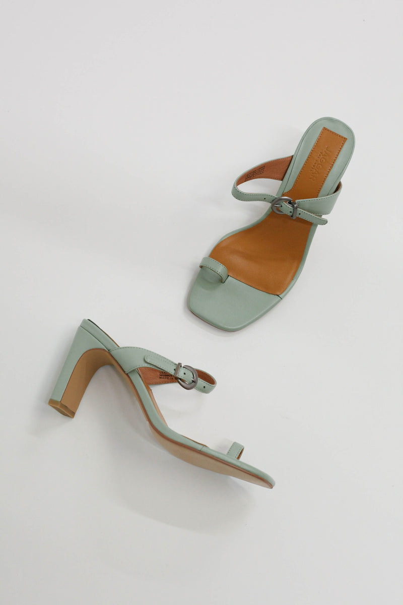 Contemporary Leather Heel - Mint