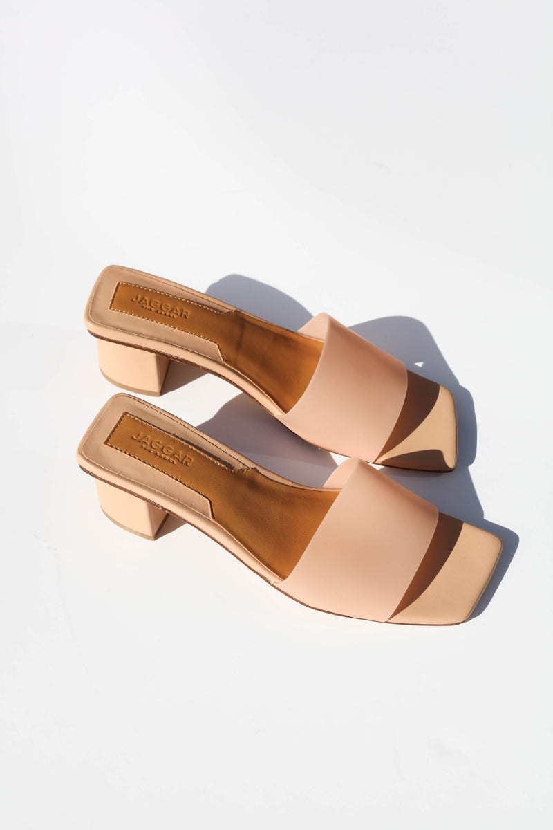 PVC Leather Slide - Nougat