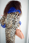 Jackie Faux Fur Coat - Leo Mix