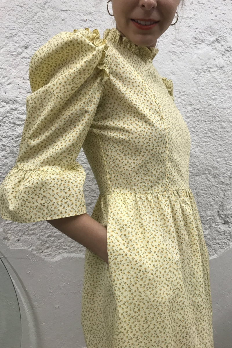 Kate Dress - Yellow Floral