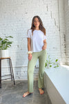 Bec Bell Bottom Pant - Sage