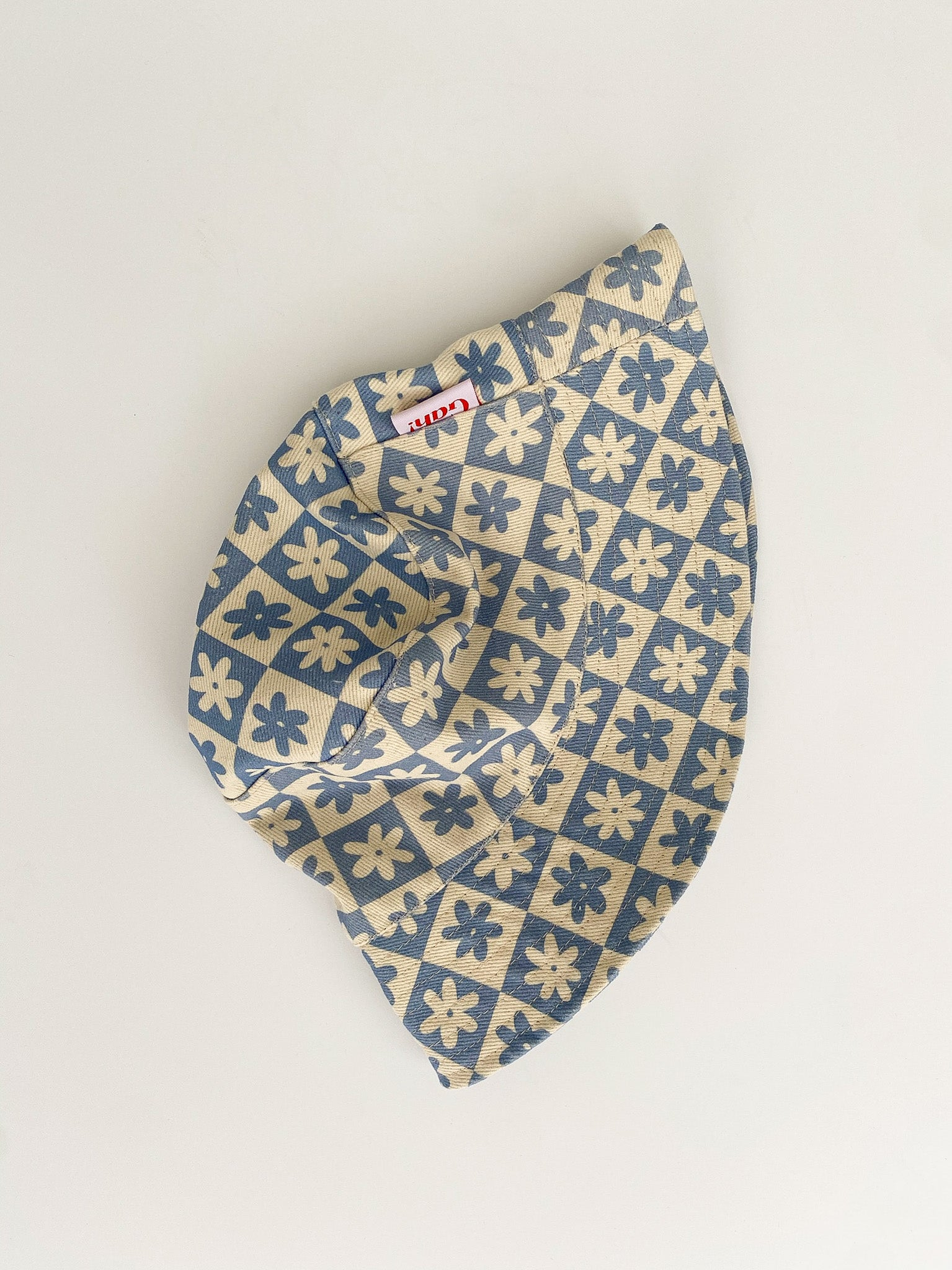 Britt Bucket Hat - Blue Daisy Check