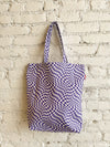 Denim Shopper Tote - Purple Warp Check