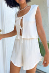 Mia Tank Lounge Set - Ivory