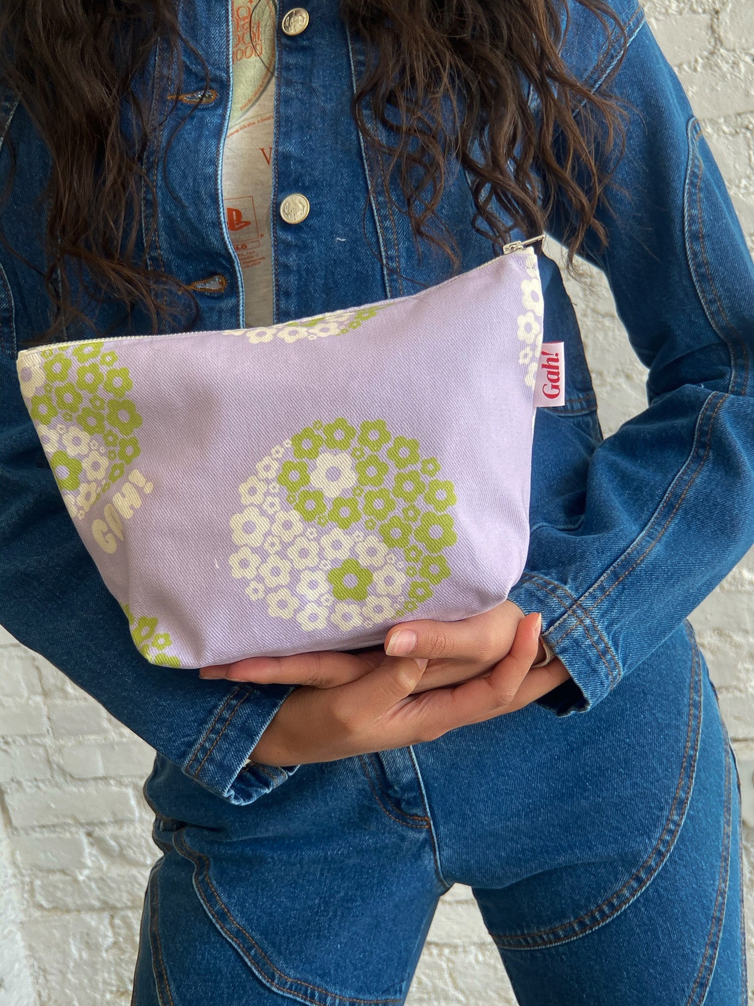 Denim Pouch - Yin Yang Thistle