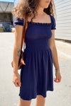 Sophie Cap Sleeve Dress - Navy