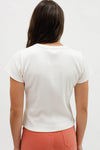 Classic Slim Fit Ribbed Tee - Ivory