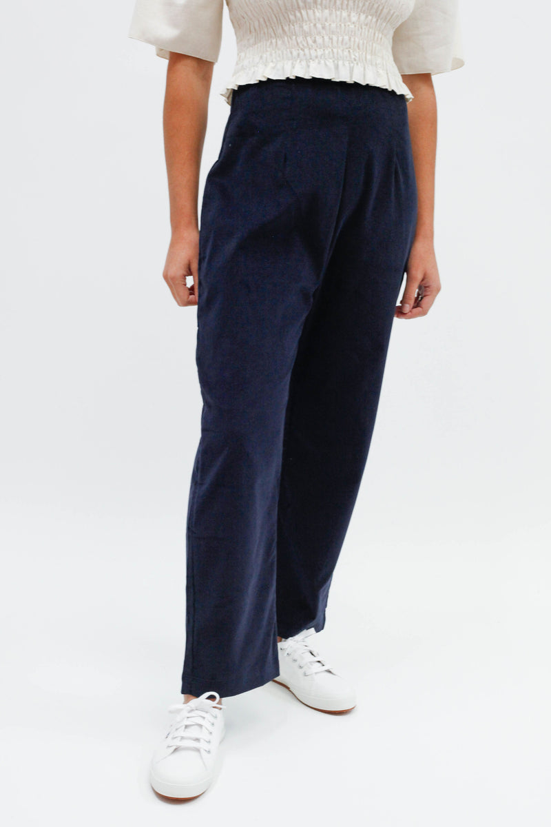 Harriett Trouser - Navy Corduroy
