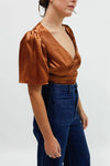 Maria Wrap Top - Bronze
