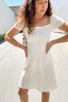 Sophie Cap Sleeve Dress - Ivory