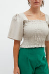 Toni Top - Metallic Linen