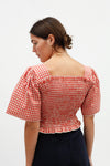 Toni Top - Terracotta Gingham