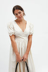 Topanga Midi Dress - Ivory Cotton