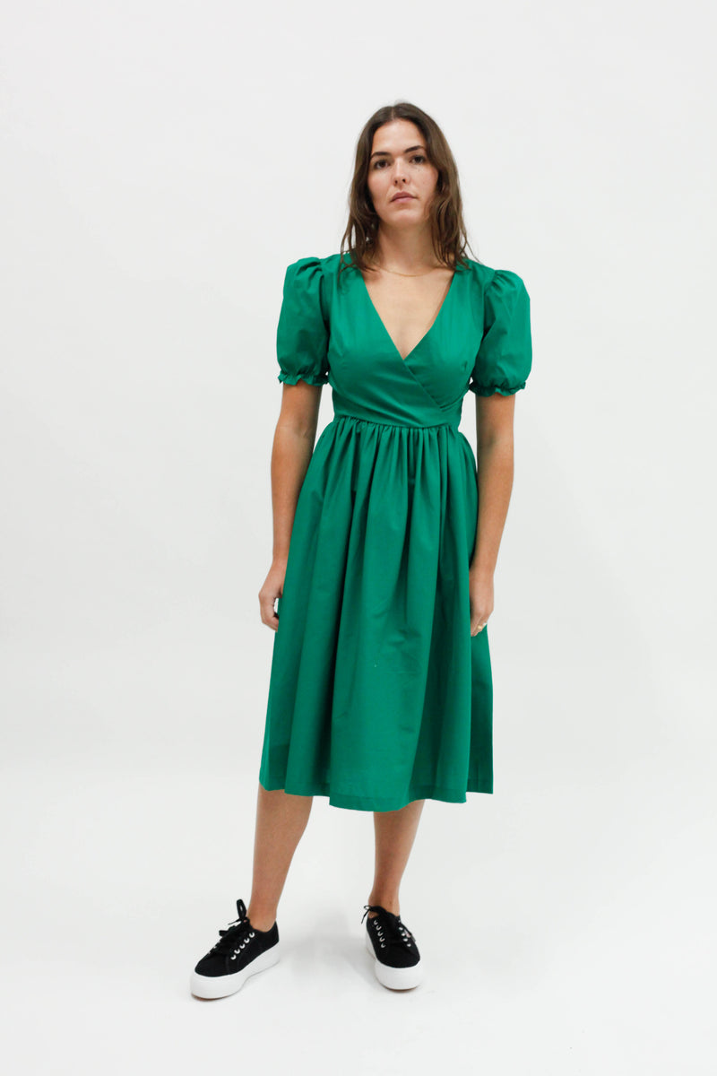 Topanga Midi Dress - Emerald