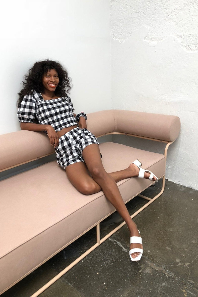 Lisa Says Gah for Garmentory | Toni Top - Black and White Gingham