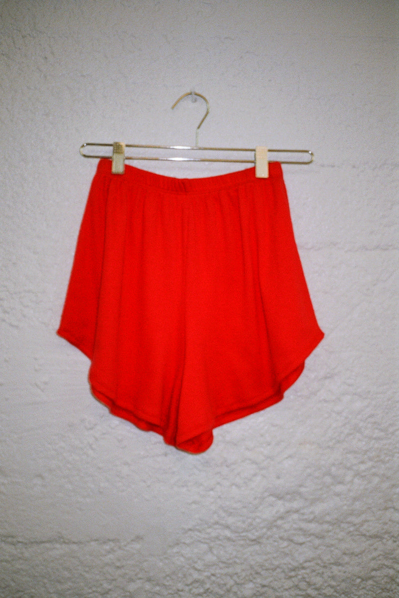 Mia Ribbed Short - Cherry