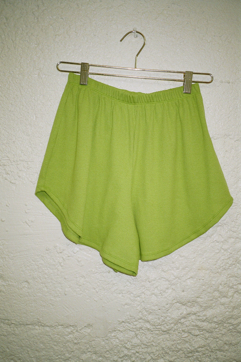 Mia Ribbed Short - Matcha