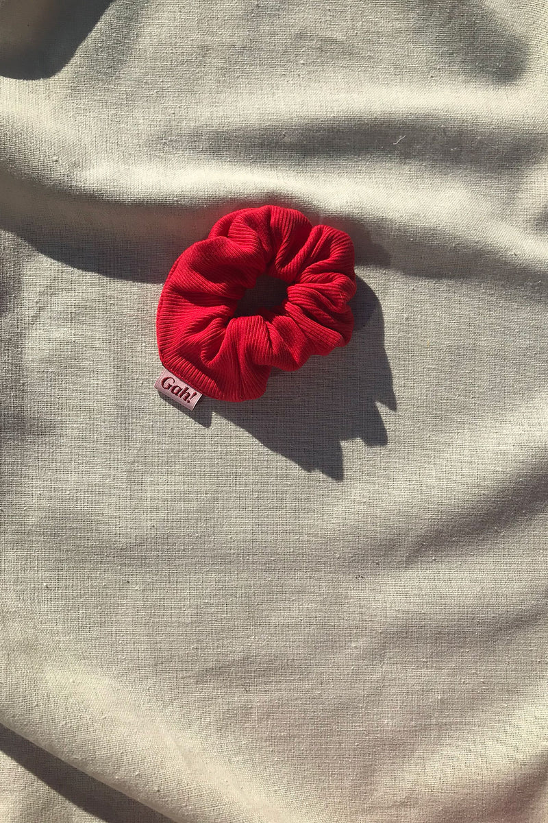 Ribbed Scrunchie - Red
