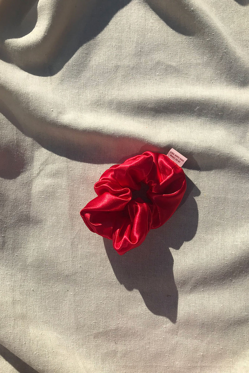 Satin Scrunchie - Red