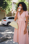 Topanga Midi Dress - Rose Linen