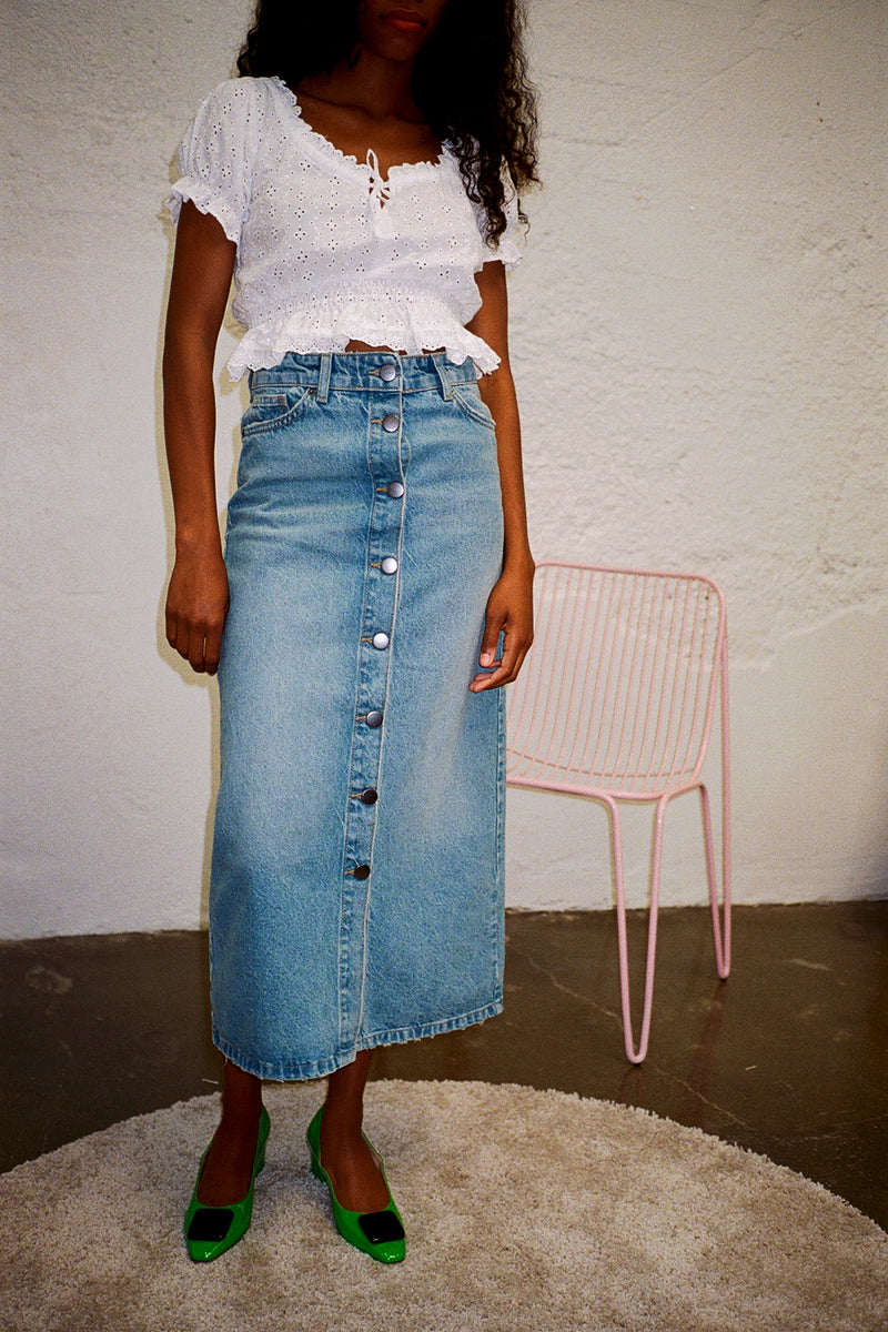 Wall Skirt - Light Blue Denim
