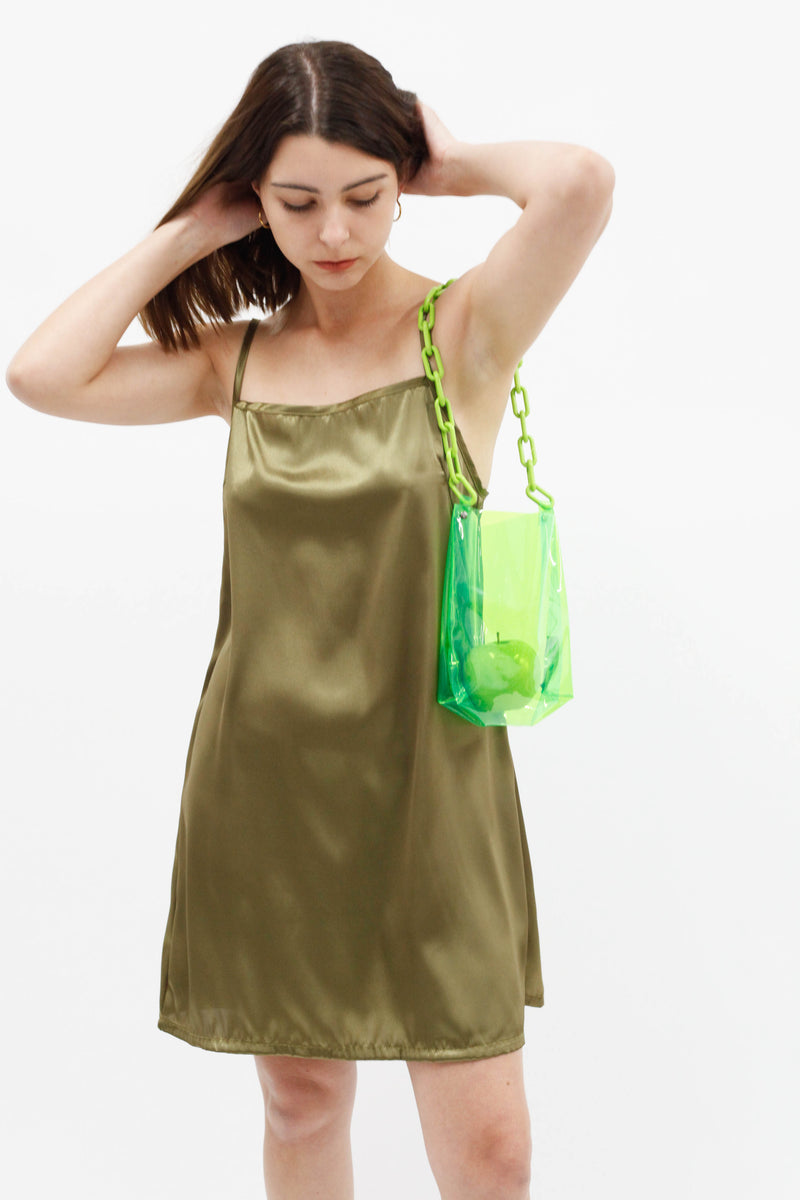 Tori Slip Dress - Seaweed