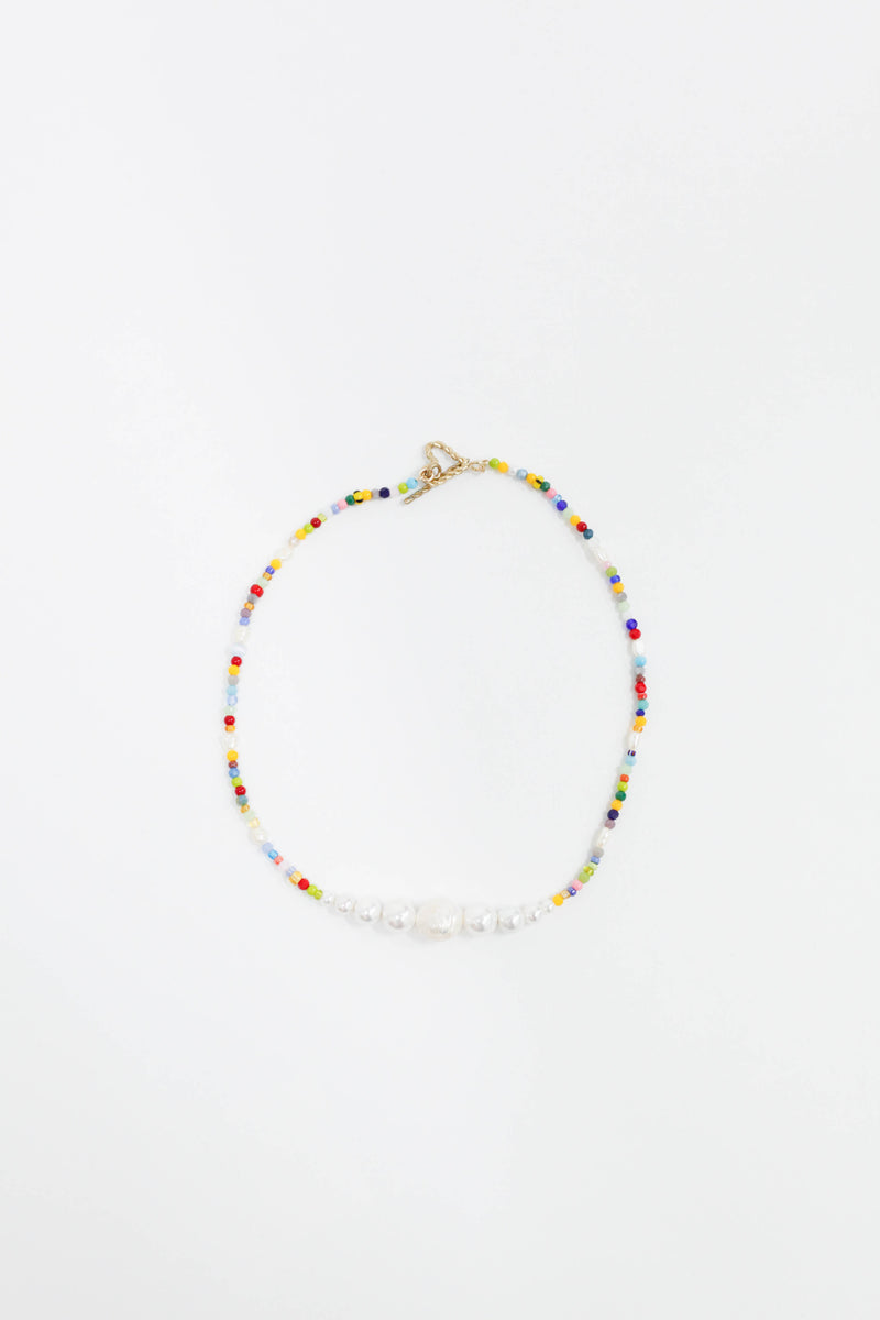 Simple Pearls Necklace - Multicolor