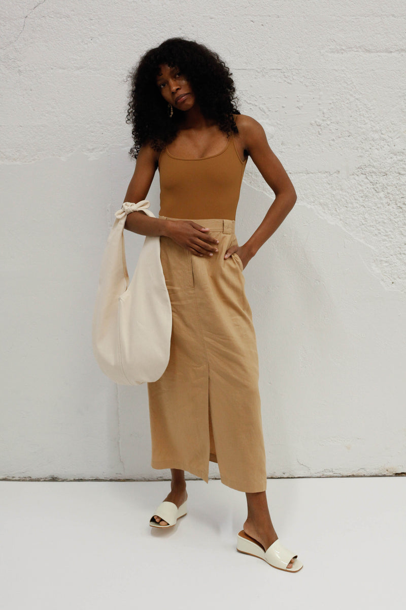 Burberry Midi Skirt - Tan