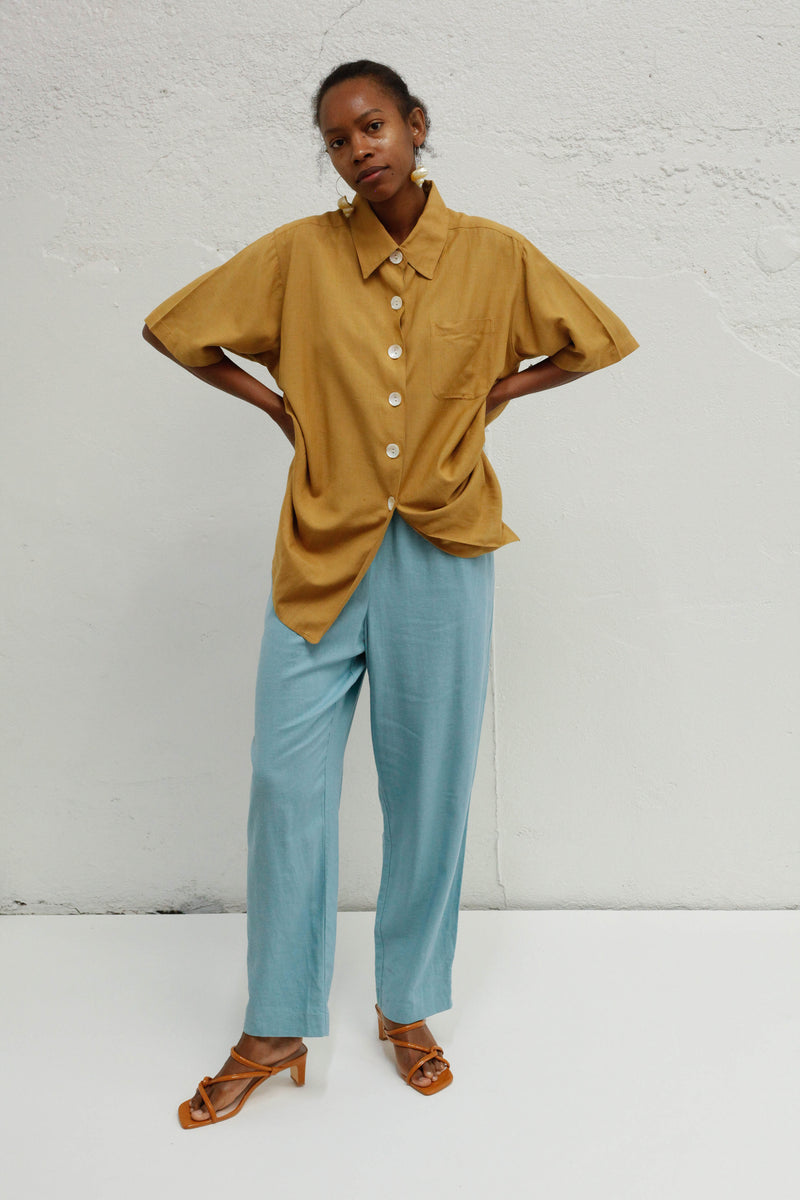 Vintage Button Top - Camel