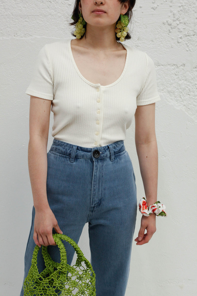 New Miu Short Sleeve - Ivory