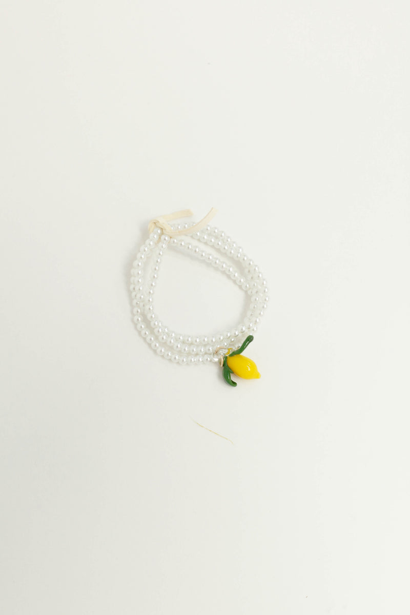 Lemon Drop Pearl Set Bracelet