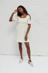 Toni Dress - Oat Milk Linen
