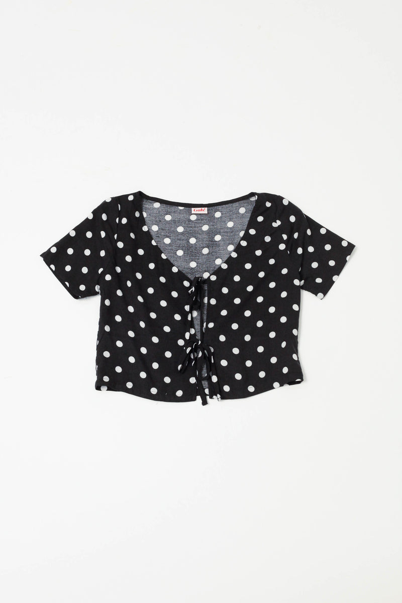 Capri Set Polka Dot - Black and White
